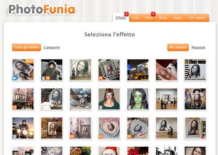 Photofunia fotomontaggi online con un clic