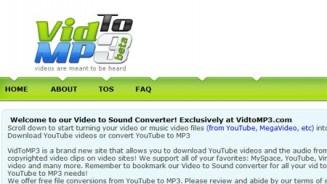 VidToMP3 scaricare mp3 e musica da youtube e non solo