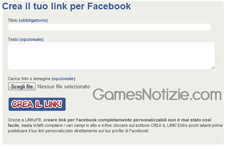Link per Facebook come crearli
