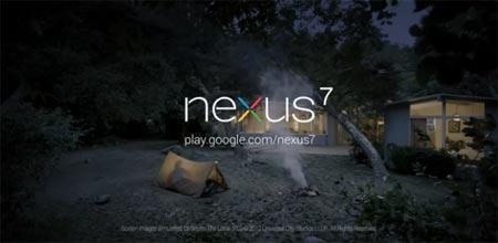 Nexus 7 primo spot pubblicitario
