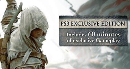 Assassins Creed 3 la versione per PS3 ha 1 ora di gameplay esclusivo