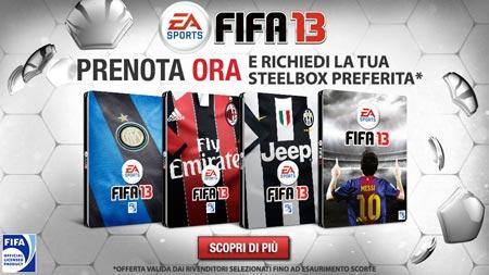 FIFA 13 e le steelbox delle squadre italiane