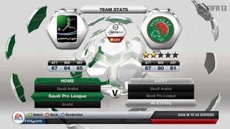 FIFA 13 licenze anche per il campionato saudita