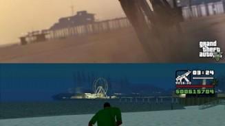 GTA 5 VS GTA San Andreas immagini a confronto