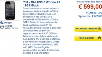 iPhone 4S scontato da Euronics iPhone 5 alle porte