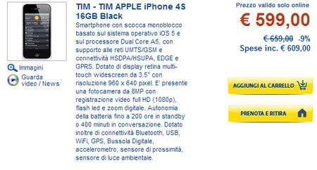 iPhone 4S scontato da Euronics iPhone 5 alle porte