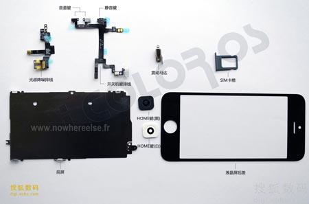 iPhone 5 altre foto dei componenti