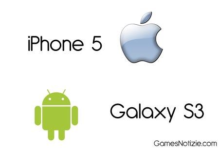 iPhone 5 e Samsung Galaxy S3 veloce confronto