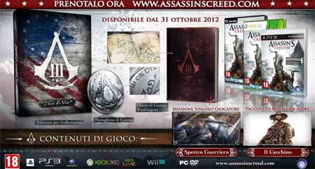 Assassins Creed 3 unboxing della Join or Die Edition