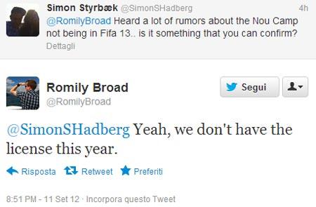 FIFA 13 dopo la demo i dubbi sul Camp Nou