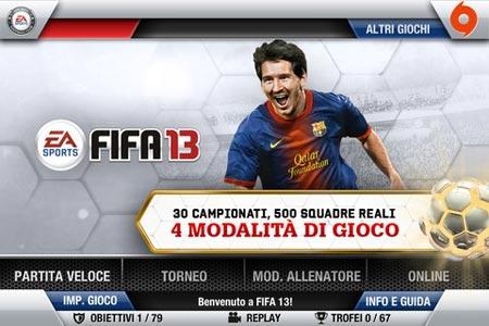 FIFA 13 per iOS sbarca su AppStore