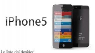 iPhone 5 la lista dei desideri