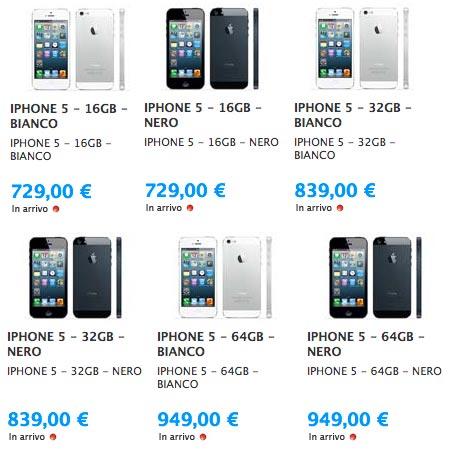 iPhone 5 prezzo in Italia il piu costoso