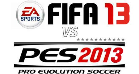 PES 2013 VS FIFA 13 demo in sfida
