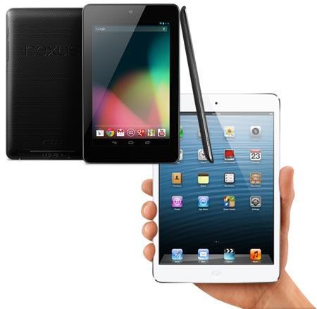 iPad Mini e Nexus 7 battaglia di vendite