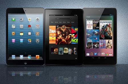 iPad Mini VS Nexus 7 VS Kinle Fire HD la sfida dei 7 pollici