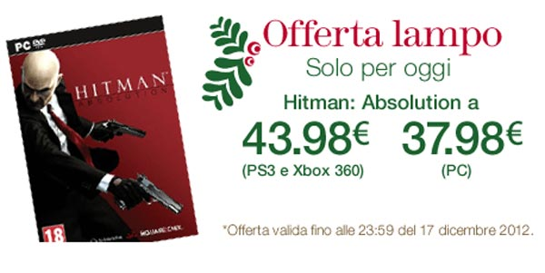 Hitman Absolution in offerta solo per oggi su Amazon