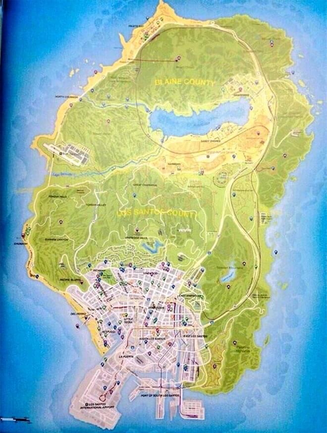 GTA 5 la mappa completa del gioco spunta in rete