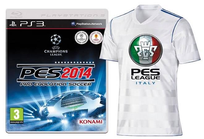 PES 2014 con maglietta PES League in edizione limitata