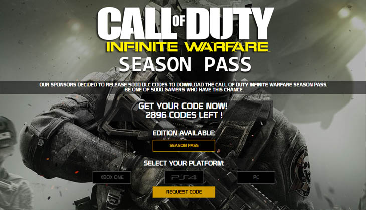 Season Pass Call of duty infinite warfare