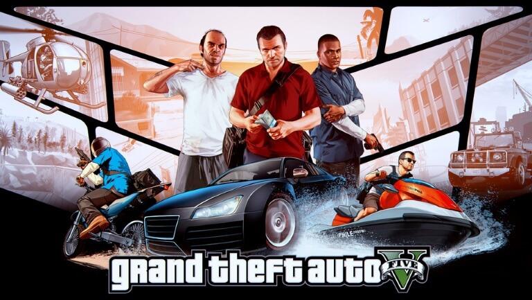 Grand Theft Auto V videogame top 5