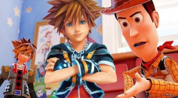 kingdom hearts 3 personaggi e mondi toy story