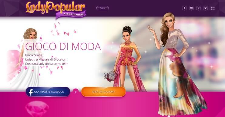 giochi moda per ragazze lady popular