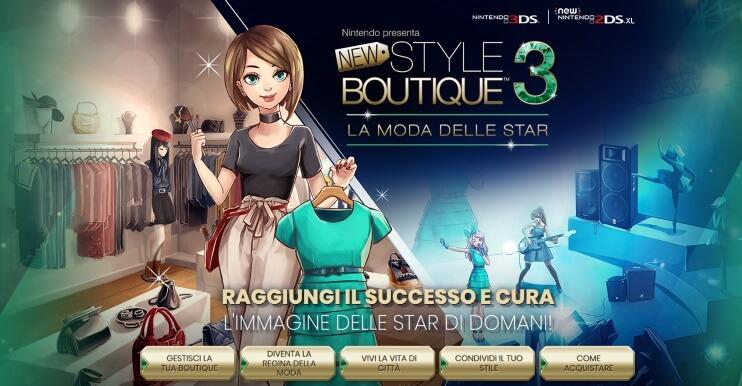 giochi moda per ragazze new style boutique 3 nintendo